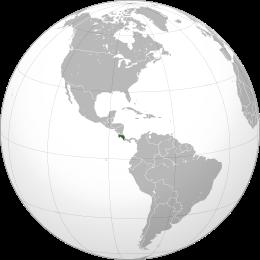 Localizzazione Costarica